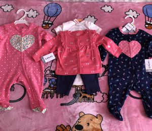 3 brand new baby outfits size 3M for Sale in La Vergne, TN