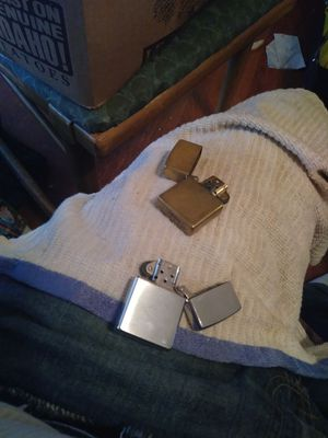 W ZIPPO LIGHTERS ONE BRASS & ONE STAINLESS STEEL for Sale in Columbus, OH
