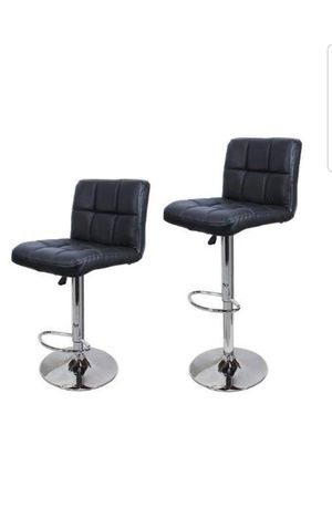 EACH$30 2 for$55 TMS Synthetic Leather Modern Design Adjustable Swivel Barstools Hydraulic Bar Stool (Black) for Sale in Rancho Cucamonga, CA