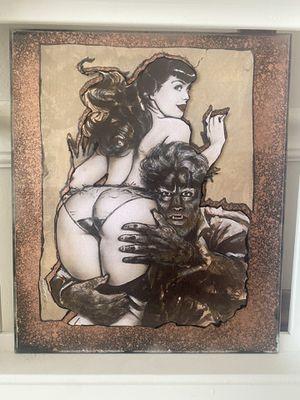Bettie Page & the 🐺 Man Art for Sale in Kearns, UT