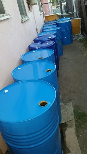 55 gallon metal drums $15 each no chemical for Sale in Rosemead, CA