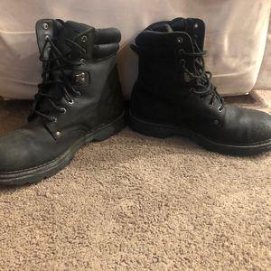 Black Wrangler Work Wear Steel Toe Oil Resistant Boots Mens Size 11 for Sale in Philadelphia, PA