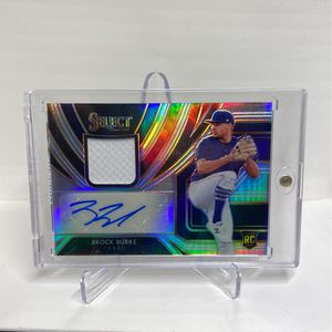 2020 Panini Select Brock Burke Prizm Auto Patch Rookie Card SP#63/99 for Sale in West Covina, CA