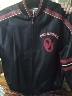 All Leather Oklahoma Sooners Leather Jacket for Sale in Oklahoma City,  OK