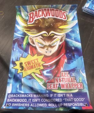 "Backwoods dragon ball z poster 27""x15"" for Sale in Irvine, CA"