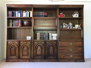 FLASH SALE! Beautiful 3 piece set vintage bookcases for Sale in Las Vegas, NV