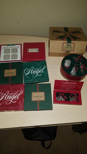 Longaberger Christmas Tree collectible ornament sets for Sale in Indianapolis, IN