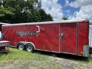 8 x 24 Enclosed landscape/cargo/car transport trailer with ramp clean title for Sale in Fort Lauderdale, FL