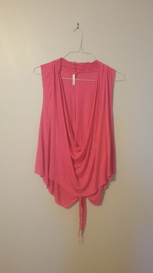 Women's hot pink sleeveless cowl neck XL for Sale in Tampa, FL