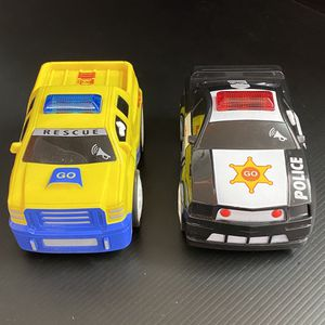 Emergency Vehicle Toys - Rescue Truck and Police Car for Sale in San Jose, CA