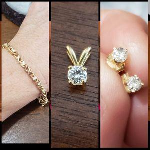 14 k diamond set for Sale in San Jose, CA
