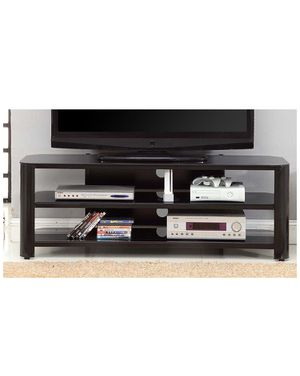 """Innovex TPT58G29 Oxford Fold N Snap 58"""" glass TV Stand for TVs up to 60 inches, Black for Sale in Strongsville, OH"""