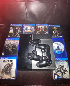 PS4 with 2 controllers and 8 games !!! for Sale in Plainville, CT