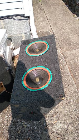 12 inch box speakers for Sale in Naugatuck, CT