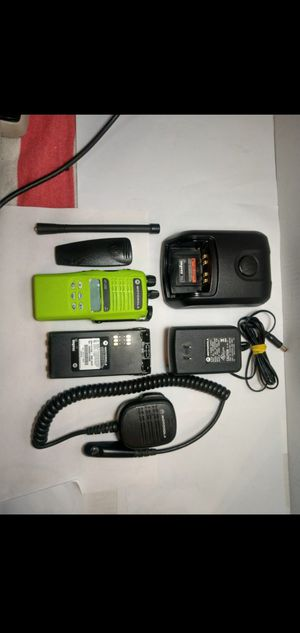 Green Motorola HT1250 Police / Fire / EMS Radio & Accessories for Sale in Leander, TX