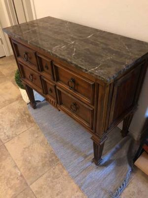 1990s French Ethan Allen Tuscany Marble Top Console/Credenza!! for Sale in North Las Vegas, NV
