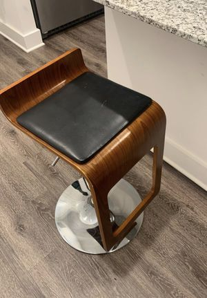 Two wood and metal bar stools for Sale in Roswell, GA