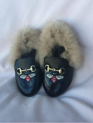 Kids Princetown Leather Slipper Fur Suede Velvet Winter Loafer Muller Flat Size for Sale in Ashburn, VA