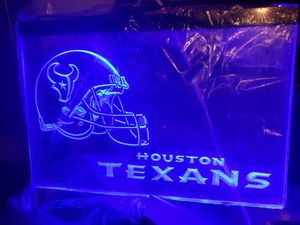"""New NFL 16x12"""" plexiglas led light up sign w 4ft cord & chain to hang for Sale in San Antonio, TX"""
