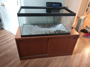 Stand & 40 gallon fish tank (long) plus extras for Sale in Everett, WA