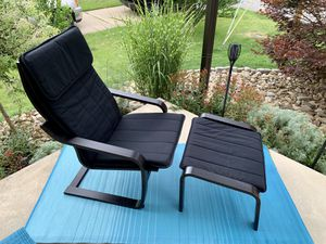 Pick up today LIKE NEW IKEA chair & ottoman CLEAN!! for Sale in Monroeville, PA