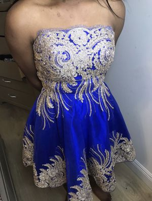 Blue and Gold Tutu Formal Dress Size 2 for Sale in Miami, FL