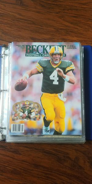 Seven 1996- 1997 Beckett Football Card Monthly Issues for Sale in Wenatchee, WA