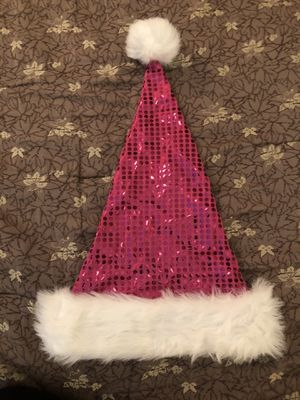 Pink Sequin Santa Hat for Sale in Miami, FL