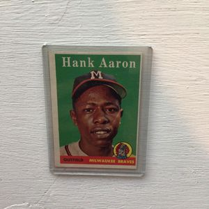 Hank Aaron Milwaukee Braves Collector Card. for Sale in Mountlake Terrace, WA