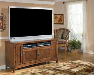 Cross Island Medium Brown Large TV Stand | W319-38 for Sale in Austin, TX