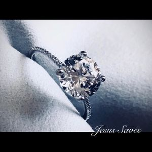 Sterling Silver S925 10MM CZ Solitaire Ring Sizes 5/6/9 for Sale in Fresno, CA