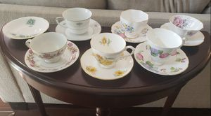 VINTAGE TEACUPS & SAUCERS BONE CHINA ENGLAND for Sale in NEW PRT RCHY, FL