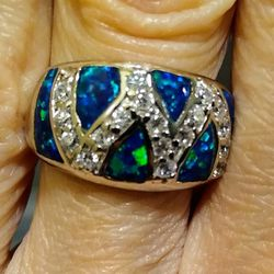 Gorgeous NEW Sterling Silver Fire Opal Band Ring! 💍 for Sale in Vancouver,  WA