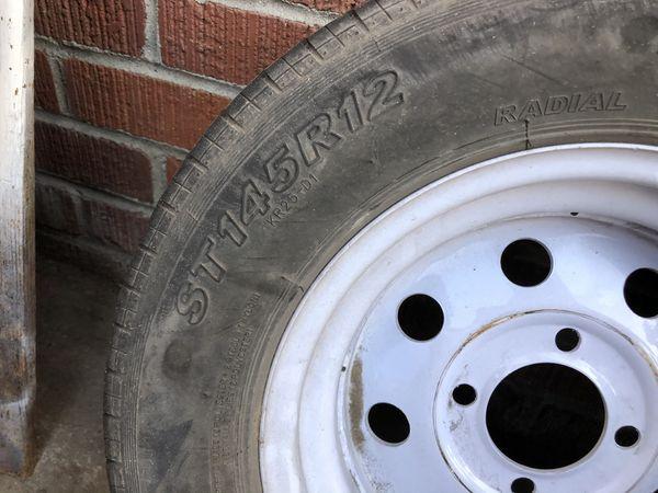 12 inch 4 lug and a 4 lug tire and rim for trailer