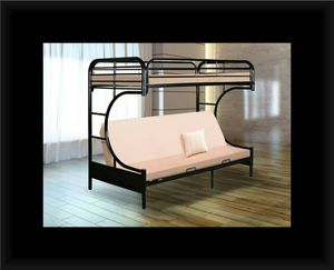 Twin futon bunk bed frame for Sale in Hyattsville, MD