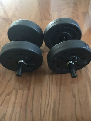 Vinyl dumbbell set 40LBS for Sale in Garland, TX