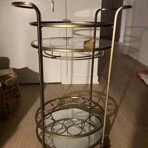 Brass Gold Bar Cart for Sale in San Francisco, CA