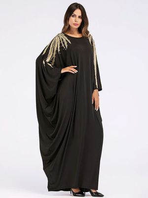 Batwing dress abaya grey silver for Sale for sale  Spring, TX