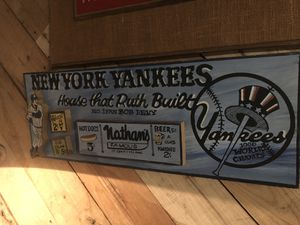 Custom Harry Glaubach signed Yankees wood Assemblage for Sale in Jersey City, NJ