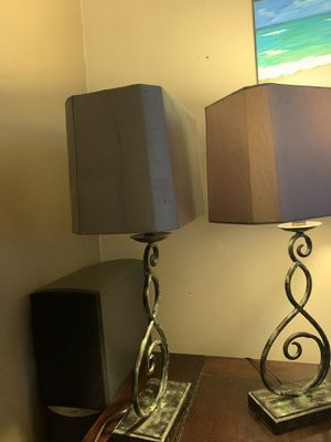 Two metal patina lamps . Very pretty for Sale in Whittier, CA