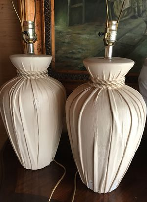 Pottery/ceramic lamps (w/out shades) for Sale in Beverly Hills, CA