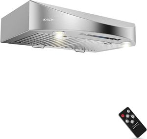 30 Inch Under Cabinet Range Hood 900-CFM, 4 Speed Gesture Sensing/Touch Control Switch Panel, Kitchen Stove Vent for Sale in San Antonio, TX