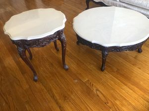 $500 obo Antique Victorian coffee table and end table AMAZING CONDITION for Sale in Lincolnwood, IL