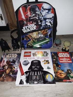 Star Wars Light-Up Back Pack/ Figures & Books for Sale in Saint Charles, MO