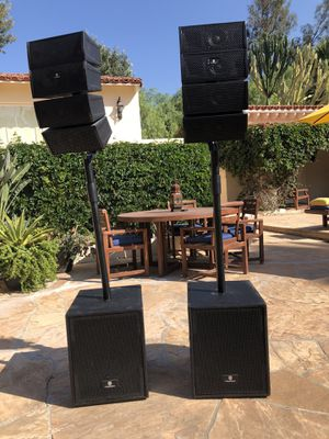 PRORECK Club 3000 12-Inch 4000 Watt DJ/Powered PA Speaker System Combo Set (Two Subwoofers and 8X Array Speakers Set) for Sale in RCHO SANTA FE, CA