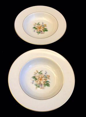 Rare Vintage Noritake Goldenrose Rimmed Soup Bowls set of 2 for Sale in Ransom Canyon, TX