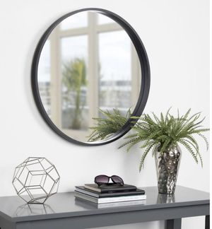 Kate and Laurel Travis Round Black Wall Mirror for Sale in Dallas, TX