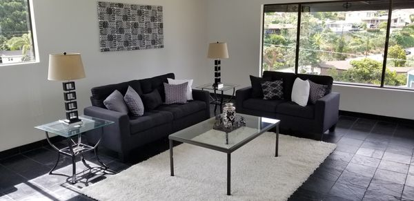Brand new-Black couch and love seat