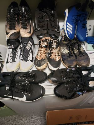 10 pairs size 14 baseball cleats for Sale in Seal Beach, CA