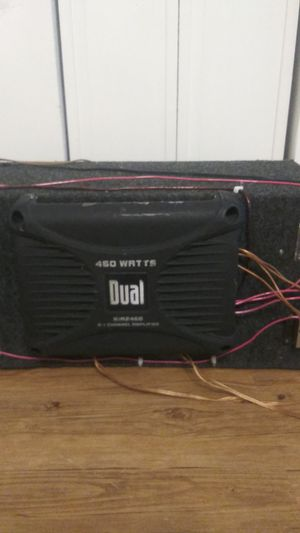Dual and pyramid amps with sub box $60 for Sale in GRANT VLKRIA, FL